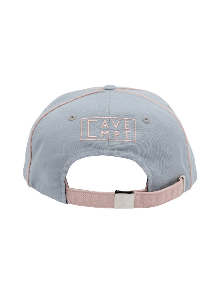 PINK PIPING LOW CAP #BLUE