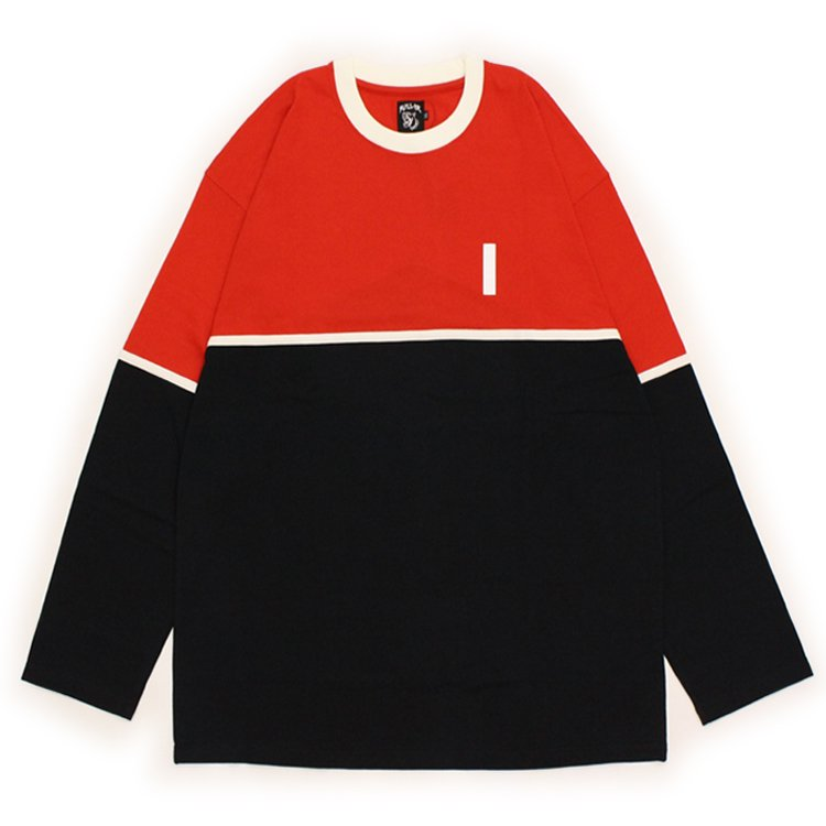 AND BLACK LONG SLEEVE #RED