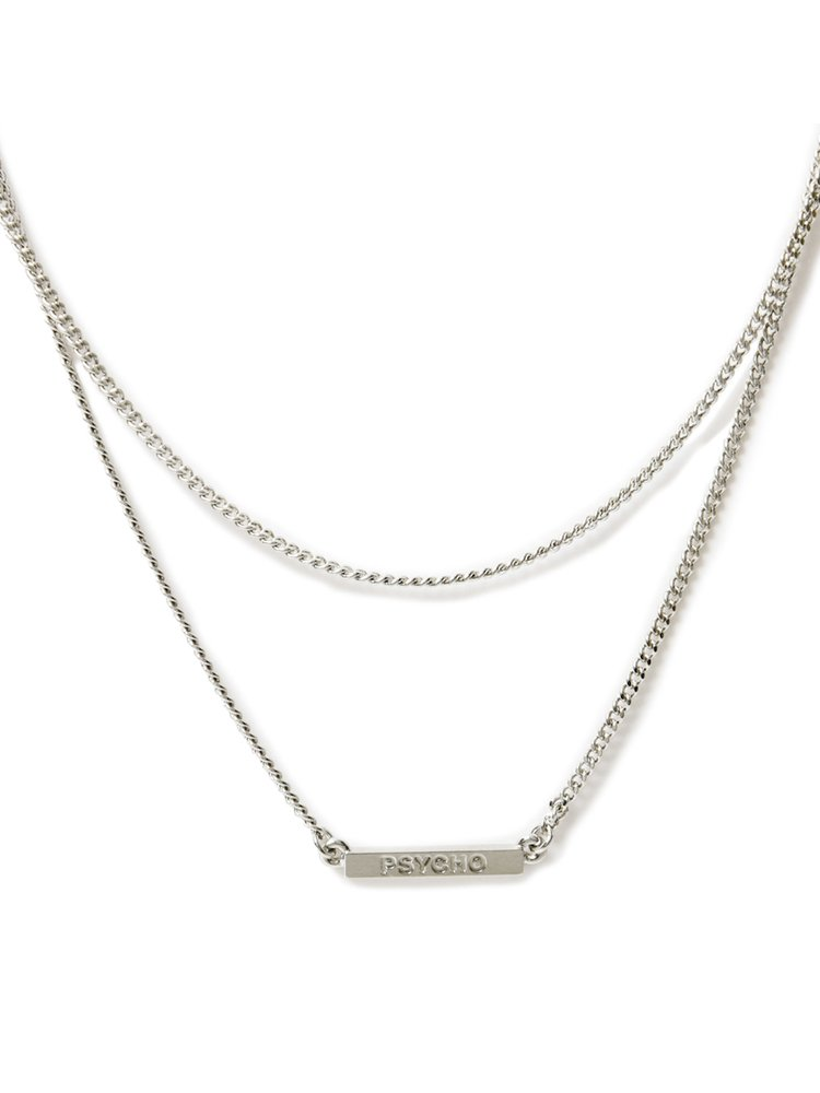 PSYCHO PLATE W CHAIN NECKLACE #SILVER