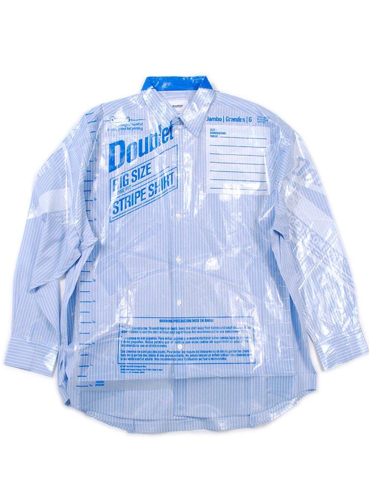OVERSIZED FREEZER BAG PACKAGE SHIRT #L.BLUE