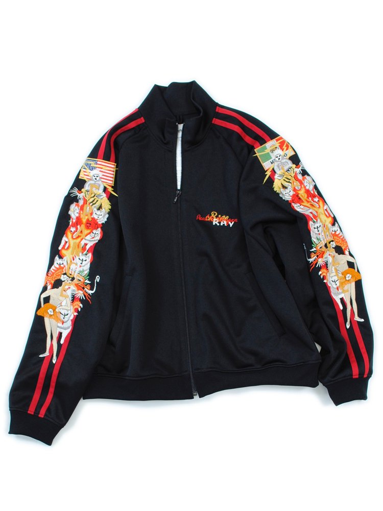 CHAOS EMBROIDERY TRACK JACKET #BLACK