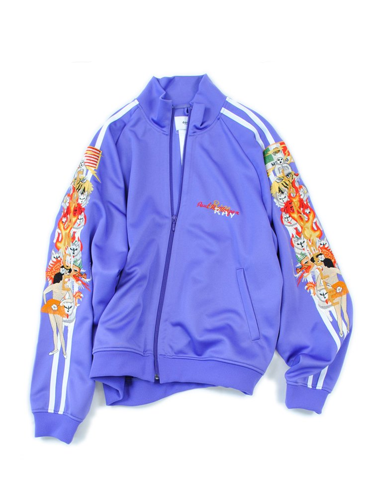 CHAOS EMBROIDERY TRACK JACKET #PURPLE