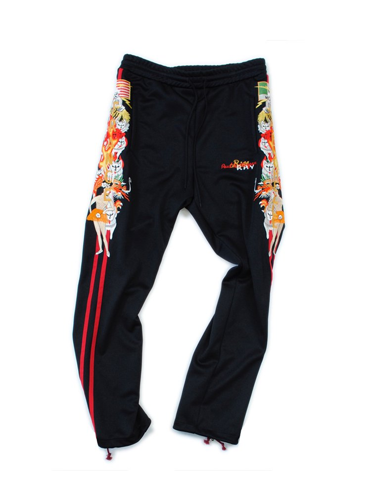CHAOS EMBROIDERY TRACK PANT #BLACK