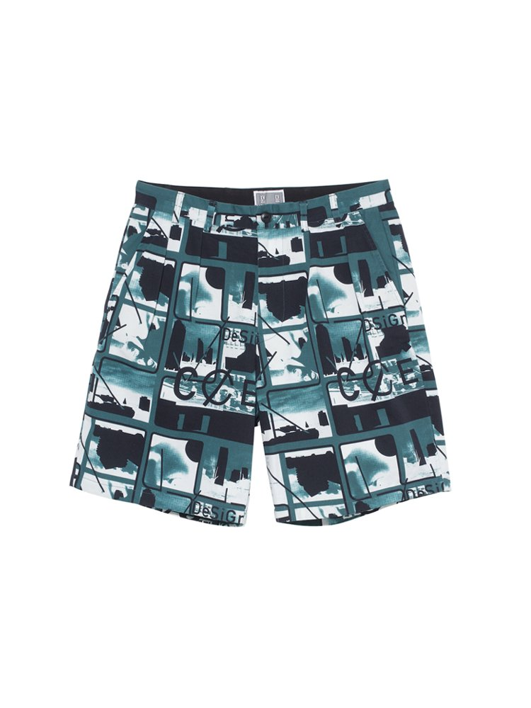 CARD 3 CHINO SHORTS #GREEN