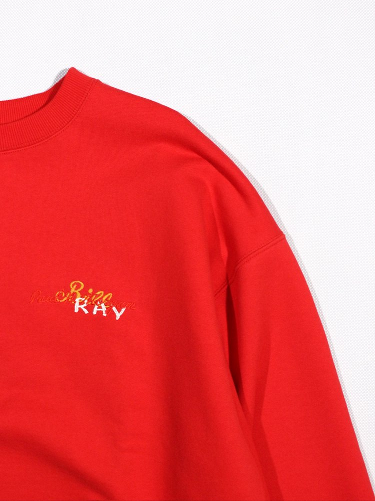 CHAOS EMBROIDERY SWEAT #RED