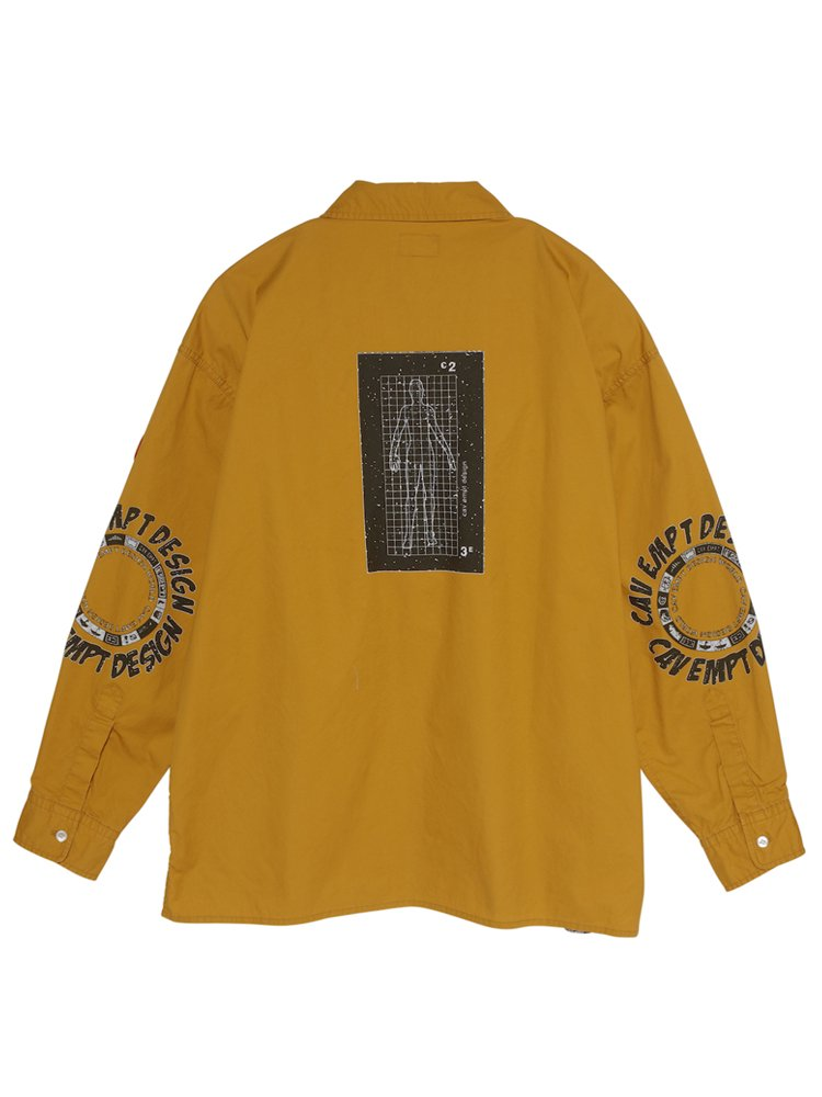 HALF ZIP BIG SHIRT #YELLOW