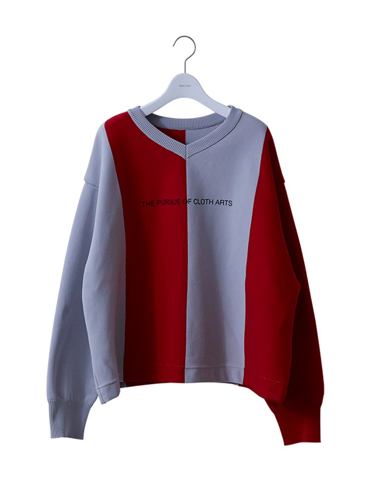BIG FOOT BALL SWEATER #RED