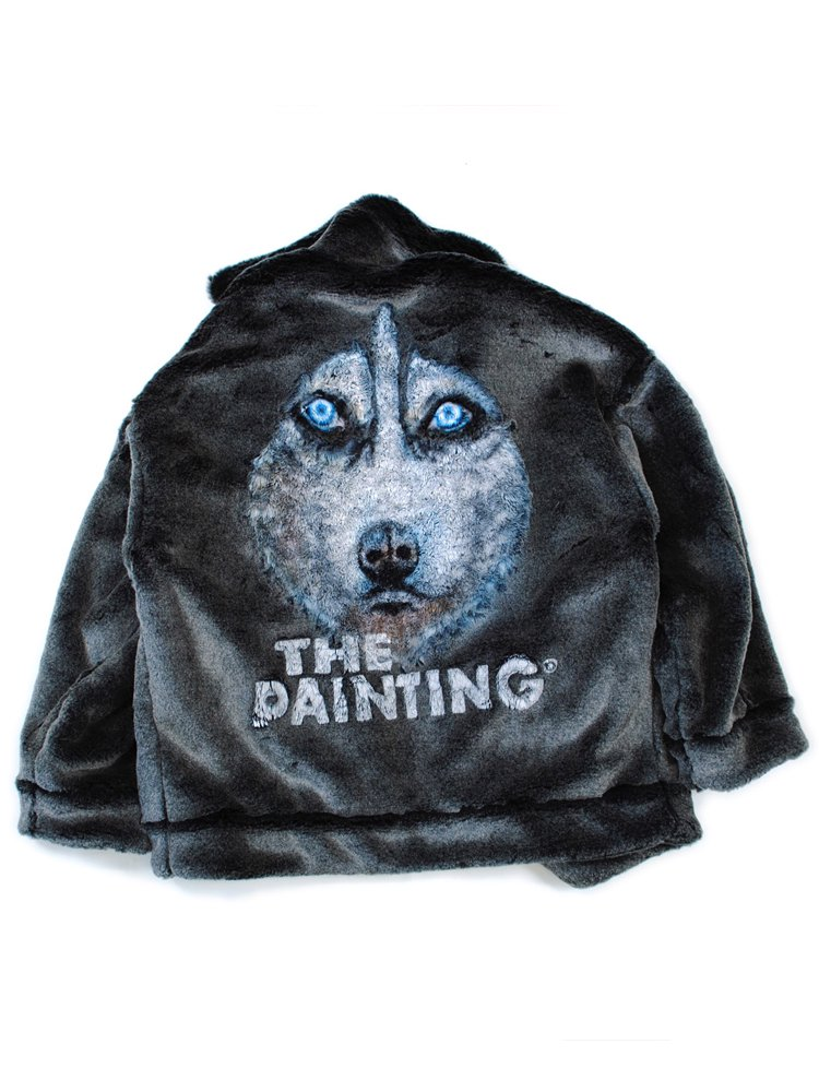 ANIMAL HAND-PAINTED FUR JACKET #HUSKY