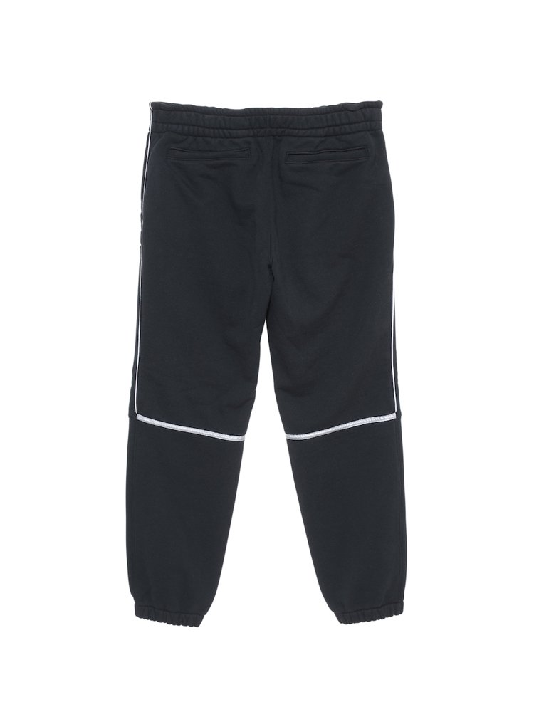 WHITE LINE JOG PANTS #BLACK