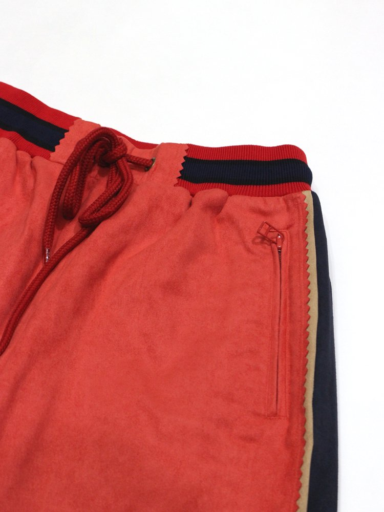 FAKE SUEDE PANTS #RED