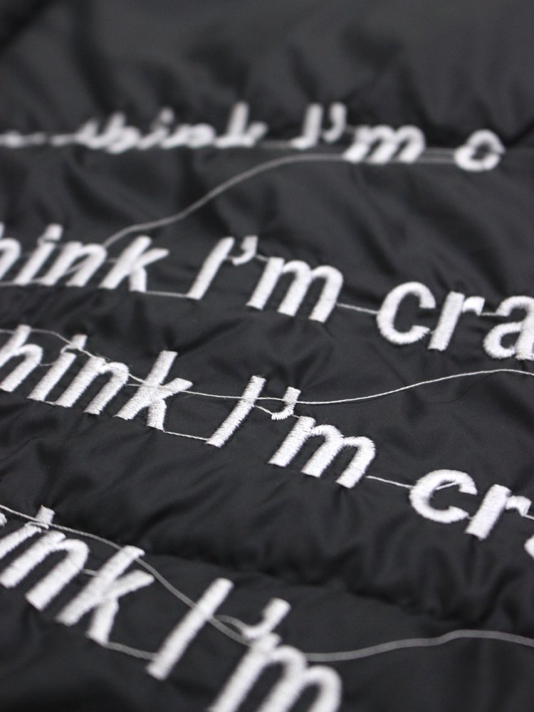DO YOU THINK I'M CRAZY JKT #BLACK
