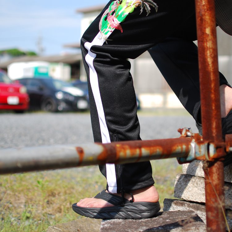 CHAOS EMBROIDERY TRACK PANTS #BLACK