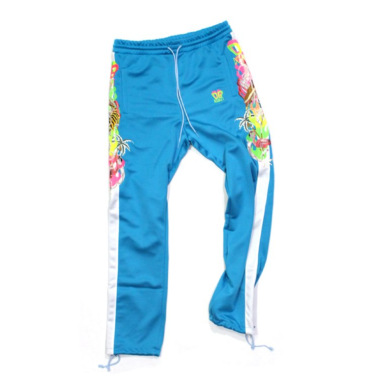 CHAOS EMBROIDERY TRACK PANTS #L.BLUE