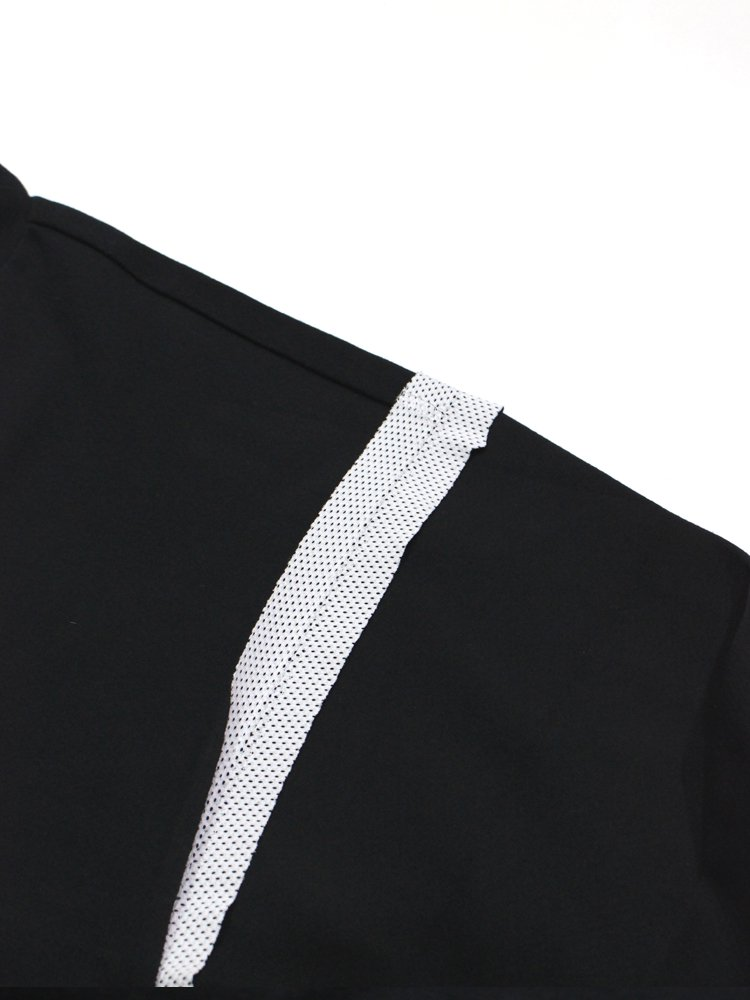 INSIDE-OUT MESH T-SHIRT LS #BLACK