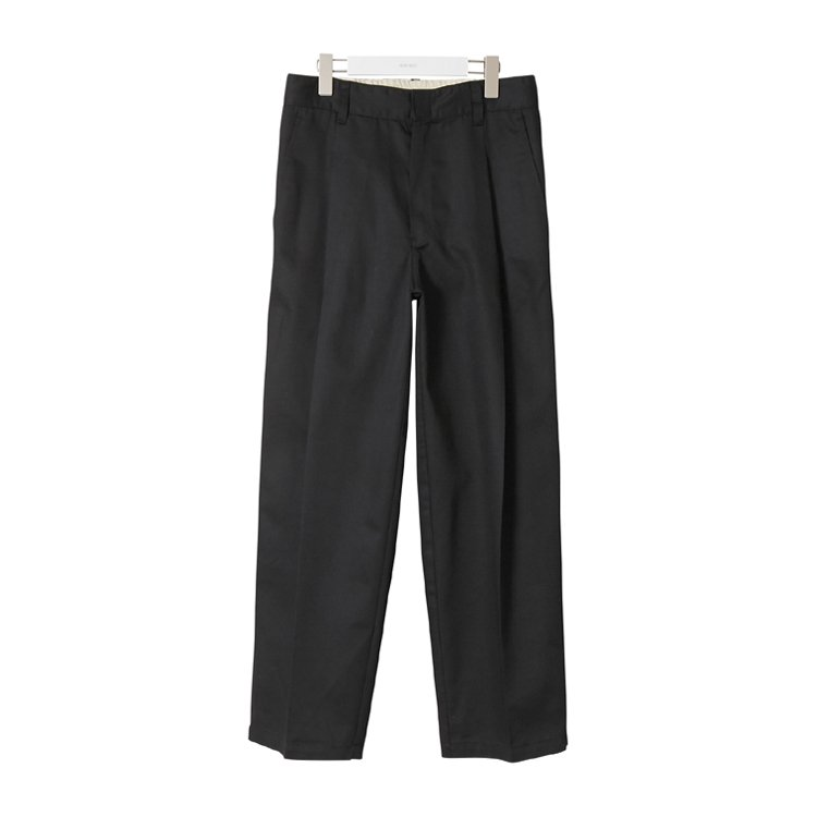 WIDE WORK SLACKS #BLACK