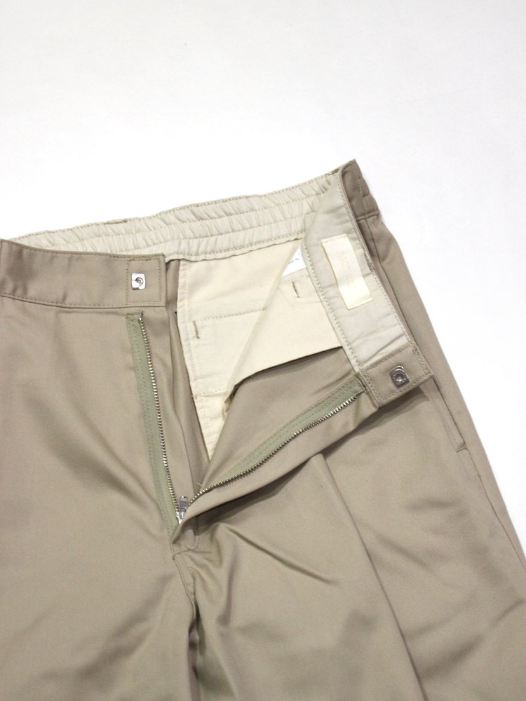 WIDE WORK SLACKS #KHAKI