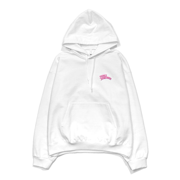 CHAOS EMBROIDERY HOODIE #WHITE