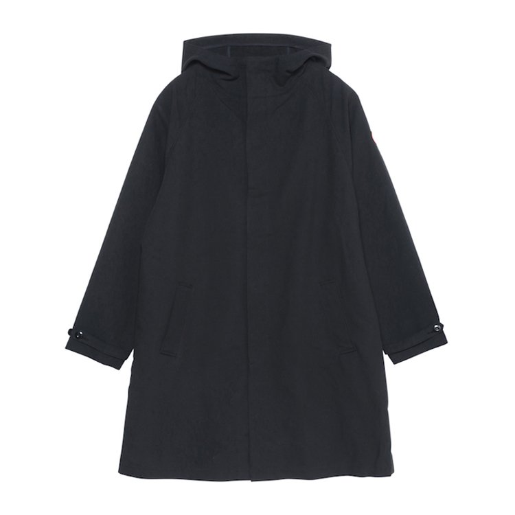 HOODED COAT #BLACK