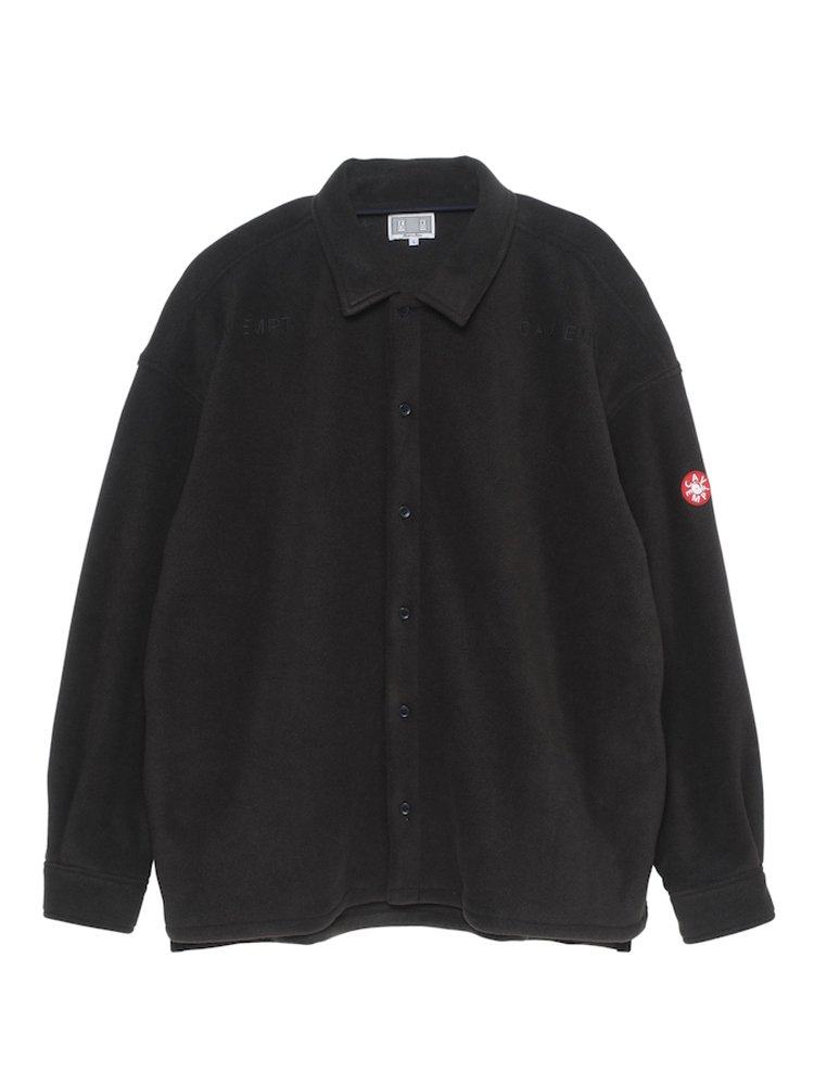 FLEECE SHIRT JACKET #BLACK