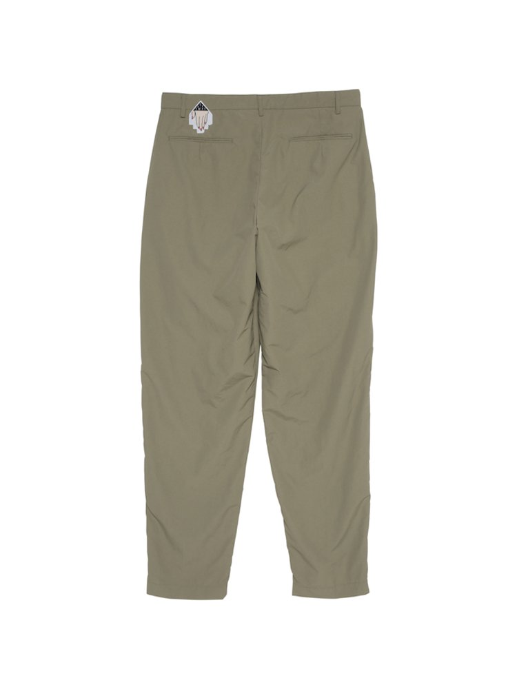NYLON WIDE CHINOS #BEIGE