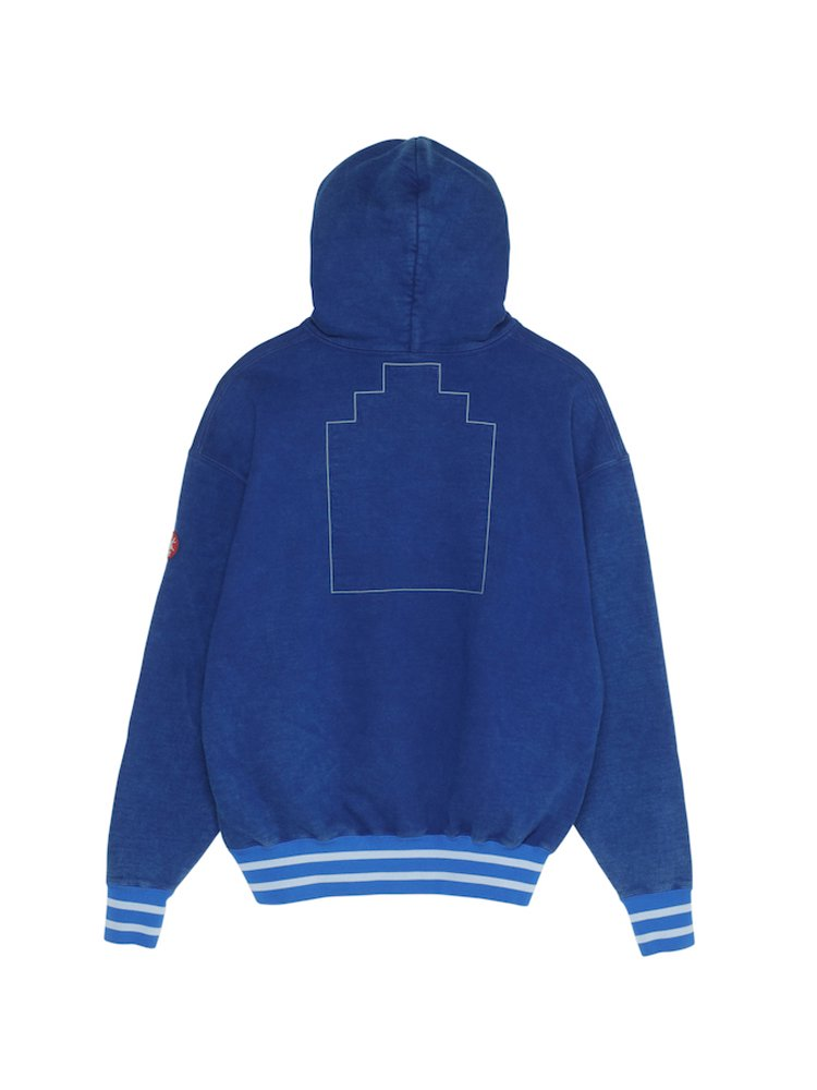 POLY RIB HEAVY HOODY #BLUE