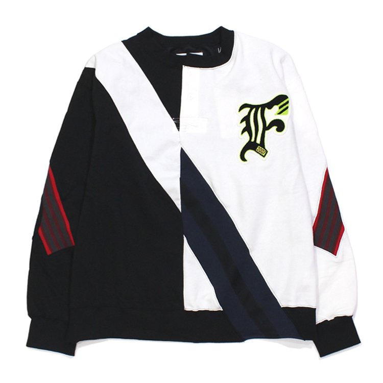 RUGBY MIX RIB SWEAT SHIRT #OFF WHITE