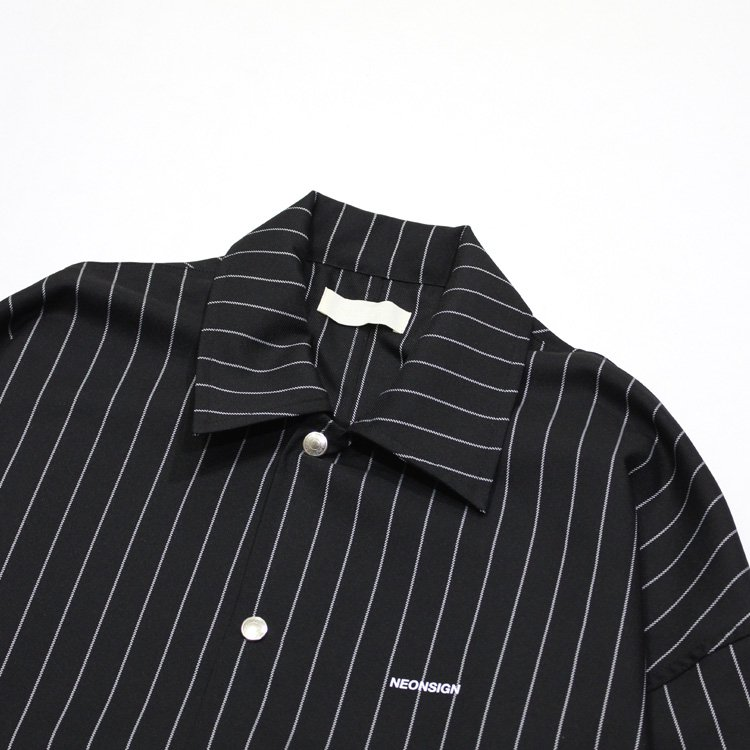 HS COACH JACKET -CHALK STRIPE- #BLACK