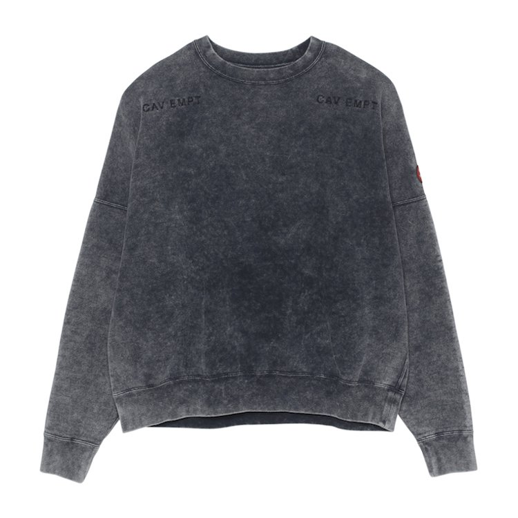 BLEACHED WASH CREW NECK #GREY