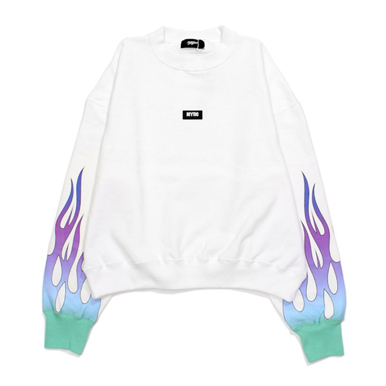 fire sweat pullover #WHITE