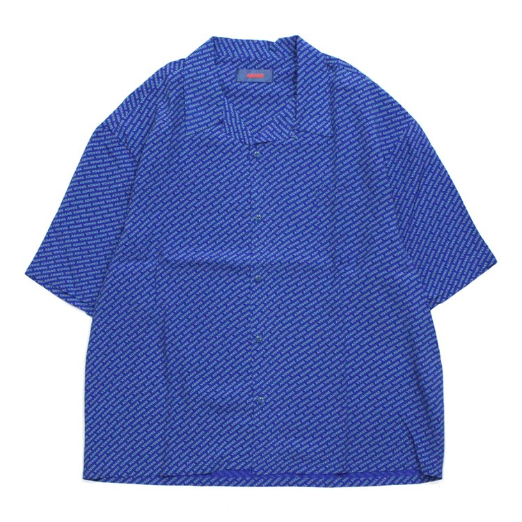 LOGO PATTERN SHIRTS #BLUE