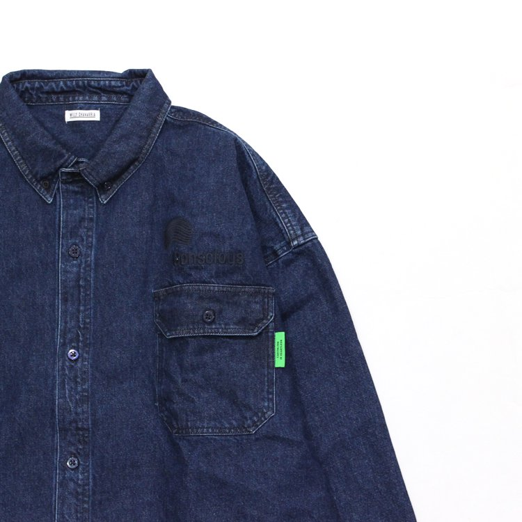 BIG DADDY BUTTON DOWN #INDIGO