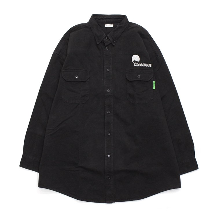 BIG DADDY BUTTON DOWN #BLACK