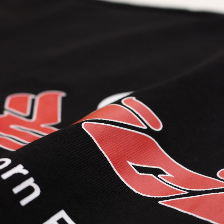 LOGO SS TEE #BLACK/RED