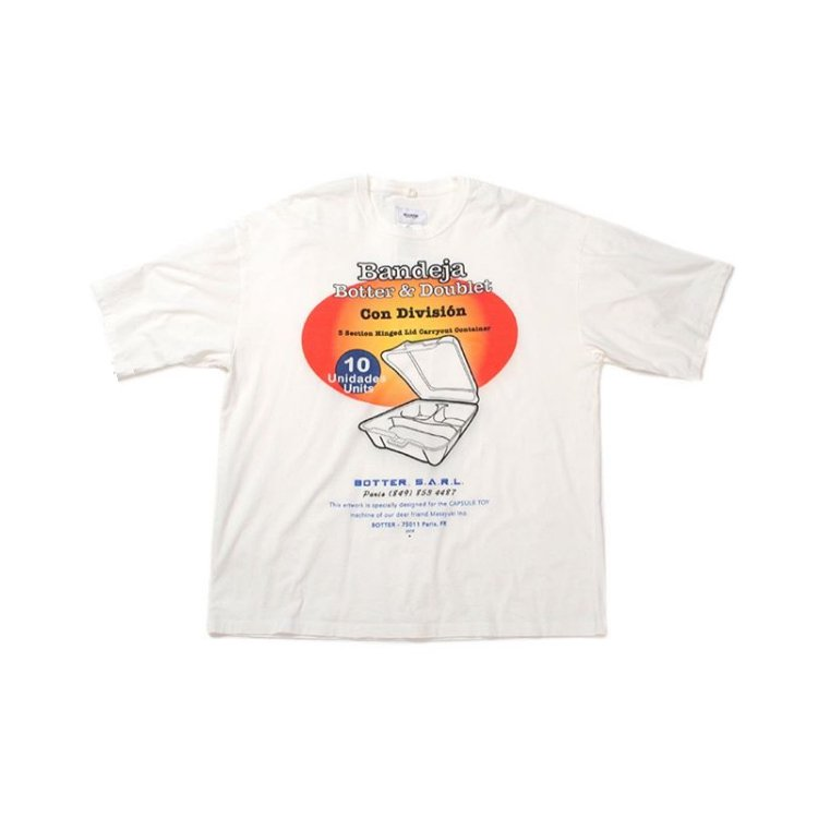 CAPSULE TOY COMPRESSED T-SHIRT #WHITE