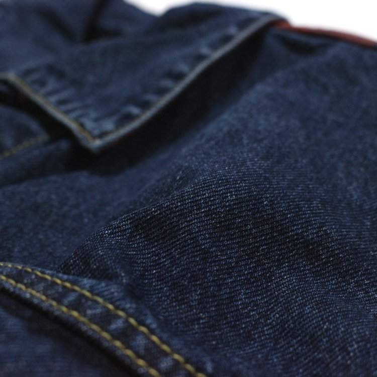 CHECK DENIM JACKET #INDIGO