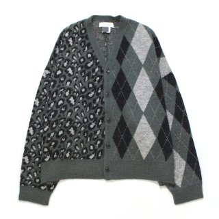 CRAZY PATTERN CARDIGAN #GRAY _ FACETASM