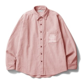 CORDUROY SHIRT #PINK _ BlackEyePatch