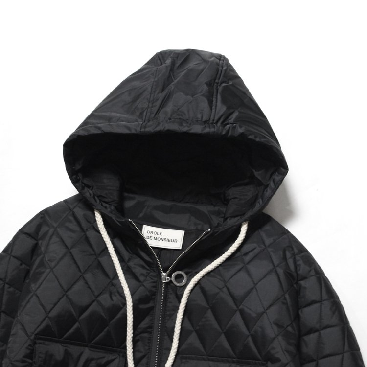 Quilted Patch Pocket blouson #BLACK