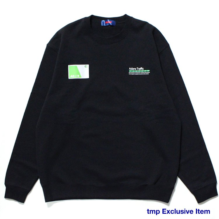 IC CARD SWEAT PULLOVER #BLACK