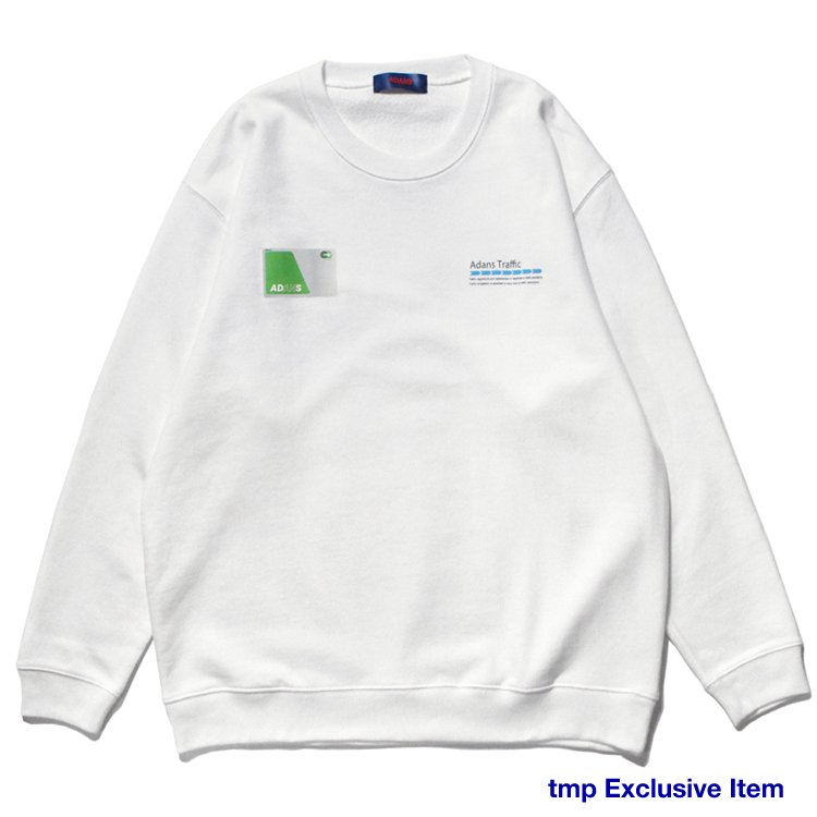 IC CARD SWEAT PULLOVER #WHITE