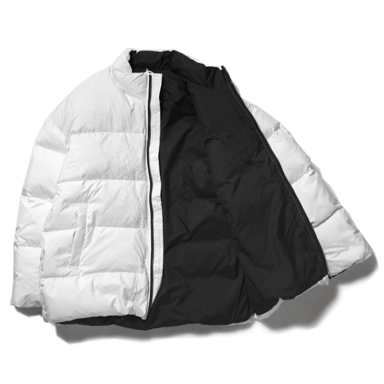 SKELETON EMBROIDERY DOWN JACKET #WHITE