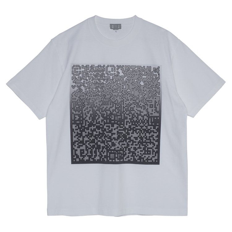 PIXLATED NOISE T #WHITE