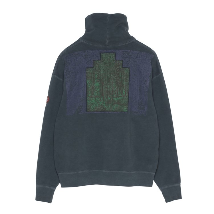 FOREST STAND COLLAR SWEAT #CHARCOAL