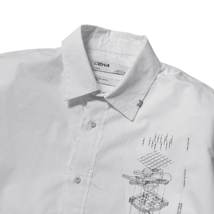 Matrix Of Consciousness Printed Shirt #White