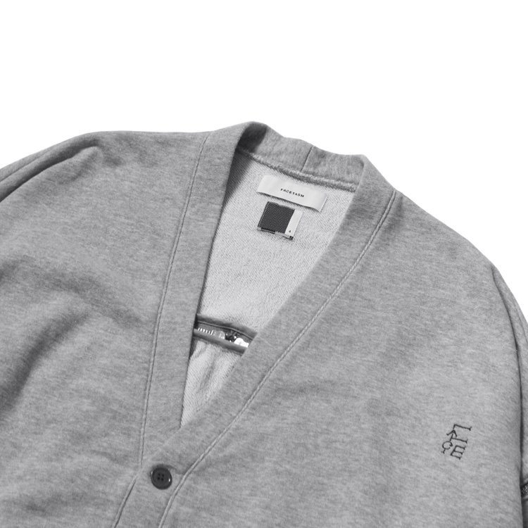 SWEAT ZIPPER CARDIGAN #GRAY