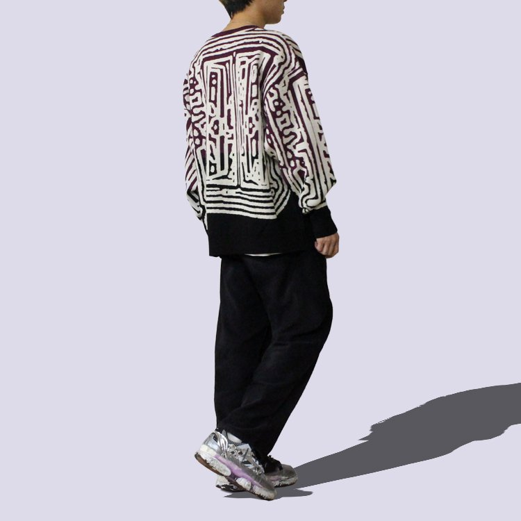 AT THE DOOR LINKED KNIT #BLACK