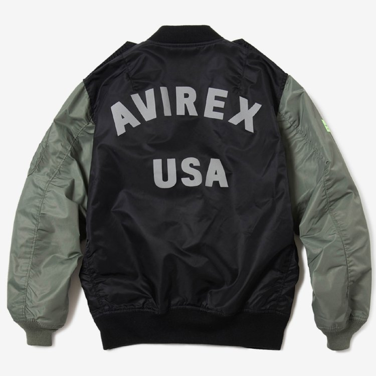 Combined L-2B Flight Jacket by AVIREX #BLACK