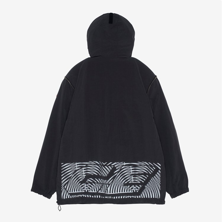 CONCEAL SLEEVE PULLOVER JACKET #CHARCOAL