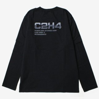 Double Layered Long-sleeve T-shirt #Black _ C2H4