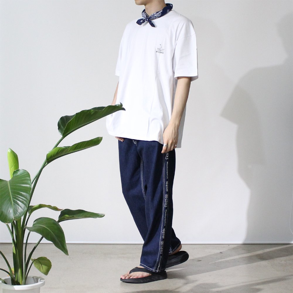 HANDLE WITH CARE DENIM PANTS #BLUE